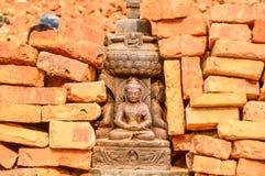 KATHMANDU, NEPAL - 26 DE ABRIL DE 2015: Restos das construções no quadrado de Durbar em Kathmandu após, após uns 7 8 terremoto, N Imagem de Stock Royalty Free