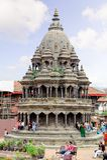 KATHMANDU, NEPAL - 23 DE JULHO DE 2013: Hari Shankar Temple, templo de Taleju, Taleju Bell, templo de Degutalle no quadrado de Du Fotos de Stock Royalty Free
