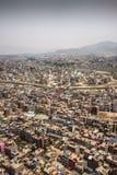 Kathmandu Nepal. Flight over Kathmandu Nepal royalty free stock photo