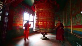 KATHMANDU, NEPAL - JUNE 2013: Nepalese people worship stock footage
