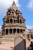 Kathmandu Nepal, Listopad, - 03, 2016: Krishna świątynia w Patan Durbar kwadracie na słonecznym dniu, Nepal, Azja zdjęcie royalty free