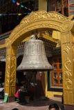 KATHMANDU, NEPAL 28. MÄRZ: Boudhanath-stupa am 28. März 2015 herein Stockfotos