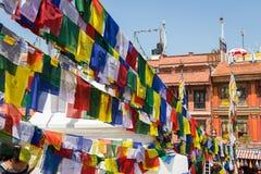 KATHMANDU, NEPAL 28. MÄRZ: Boudhanath-stupa am 28. März 2015 herein Lizenzfreie Stockbilder
