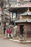KATHMANDU, NEPAL 16. MÄRZ: Die Straßen von Kathmandu am 16. März, Lizenzfreies Stockbild