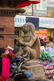 KATHMANDU, NEPAL 16. MÄRZ: Die Straßen von Kathmandu am 16. März, Lizenzfreie Stockfotografie