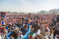 Nepalese People Taking Part at Guinness World Records Event 2018. Kathmandu Nepal -Mar 3,2018: People taking part in the Guinness World Records Event 2018 Royalty Free Stock Photo