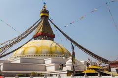KATHMANDU, NEPAL-MARCH 28: Boudhanath stupa na Marzec 28, 2015 wewnątrz Zdjęcie Royalty Free