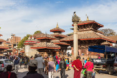 KATHMANDU, NEPAL-MARCH 16: Durbar Square on March 16, 2015 in Ka Royalty Free Stock Images