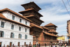 KATHMANDU, NEPAL-MARCH 16: Durbar Square on March 16, 2015 in Ka Royalty Free Stock Image