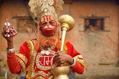 Sadhu Hanuman Baba in Pashupatinath Stock Photography