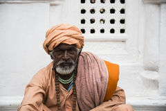 A sadhu during Shivaratri festival in Kathmandu, Nepal Royalty Free Stock Photos