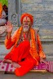 KATHMANDU NEPAL, MARZEC, - 22, 2017: Zamyka up jogowie w Pashupatinath świątyni Kathmandu, Nepal Obraz Royalty Free
