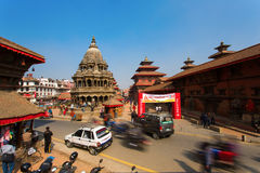 KATHMANDU, NEPAL-MAY 19: Street at the Durbar Square,Lalitpur ci Stock Images