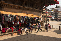 KATHMANDU, NEPAL-MAY 19: Street at the Durbar Square,Lalitpur ci Royalty Free Stock Images