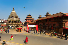 KATHMANDU, NEPAL-MAY 19: Street at the Durbar Square,Lalitpur ci Stock Photos