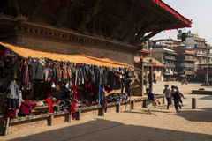 KATHMANDU, NEPAL-MAY 19: Street at the Durbar Square,Lalitpur ci Royalty Free Stock Photos