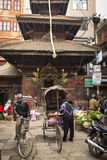 KATHMANDU, NEPAL - NOVEMBER 20 : Local people on the street sell Royalty Free Stock Image