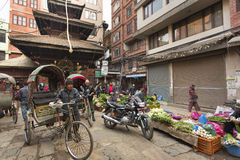 KATHMANDU, NEPAL - NOVEMBER 20 : Local people on the street sell Stock Photo