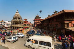 KATHMANDU, NEPAL-NOVEMBER 20: Street at the Durbar Square,Lalitp Royalty Free Stock Image