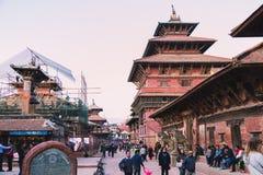 Kathmandu Nepal, Oct, - 26,2018: Patan świątynia, Patan Durbar kwadrat lokalizuje przy centre Lalitpur, Nepal Ja jest jeden zdjęcia royalty free