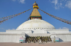 Kathmandu, Nepal, October, 26, 2012,The largest Buddhist stupa is Boudhanath ( Bodnath) Stock Image
