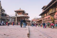 Kathmandu, Nepal - outubro 26,2018: O templo de Patan, quadrado de Patan Durbar é situado no centro de Lalitpur, Nepal É um do imagens de stock royalty free