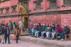 Kathmandu, Nepal - outubro 26,2018: O templo de Patan, quadrado de Patan Durbar é situado no centro de Lalitpur, Nepal É um do fotos de stock royalty free