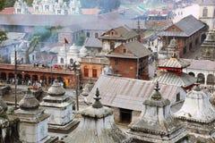 kathmandu nepal pashupatinath Arkivfoton