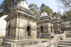 kathmandu nepal pashupatinathtempel Fotografering för Bildbyråer