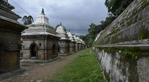 kathmandu nepal pashupatinathtempel Royaltyfria Bilder