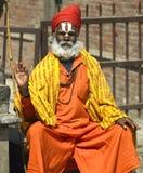 kathmandu nepal sadhu Royaltyfri Foto