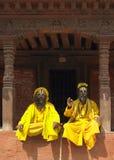kathmandu nepal sadhu Arkivfoto