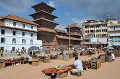 Kathmandu, Nepal, September, 27,2013, Nepali  Scene: People walking on ancient Bastinpur square near old Royal Palace Royalty Free Stock Images