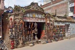 Kathmandu, Nepal, September, 27, 2013, souvenir shop in the center of Kathmandu. Kathmandu, Nepal, souvenir shop in the center of Kathmandu stock photography