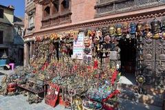 kathmandu nepal shoppar souvenirswayambunath royaltyfria foton