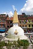 kathmandu nepal stupa Arkivfoto