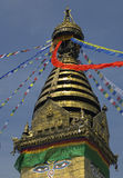 kathmandu nepal stupaswayambhunath Arkivbilder