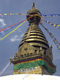 kathmandu Nepal stupy swayambhunath Fotografia Royalty Free
