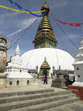kathmandu nepal swayambhunath Royaltyfri Bild