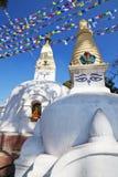 kathmandu nepal swayambunathtempel Royaltyfri Foto