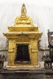 kathmandu nepal swayambunathtempel Royaltyfri Fotografi