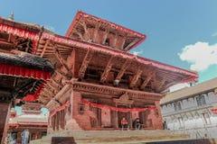 Kathmandu Nepal, Wrzesień, - 20, 2016: Nepalscy ludzie w Durbar zdjęcia stock