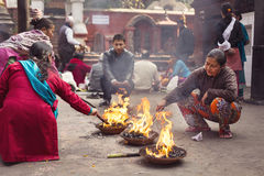 KATHMANDU - NOVEMBER 30: Traditional Ceremony in a Temple in Kat Stock Image