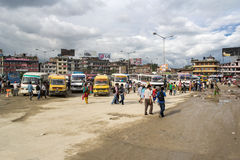 Kathmandu przystanek autobusowy Fotografia Stock