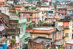 Kathmandu roofs Stock Image