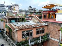 Kathmandu, Roofs of houses in Thamel Royalty Free Stock Photography