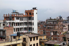 Kathmandu from rooftop Stock Photos