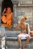 Kathmandu Sadhu Holy Men Royalty Free Stock Photography