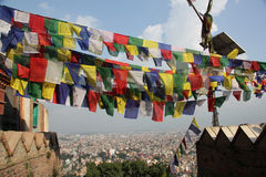 Kathmandu seen from the Swayambhunath, Nepal Royalty Free Stock Photography