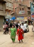 Kathmandu-Stadt, Napel Lizenzfreies Stockfoto